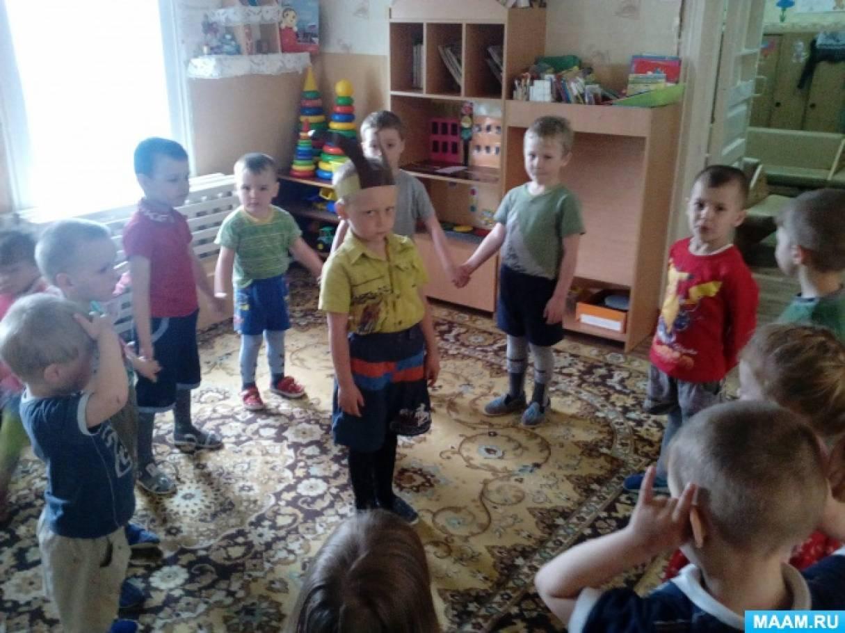 Оздоровительный досуг «Дудочка» с использованием театра игрушек для младших дошкольников