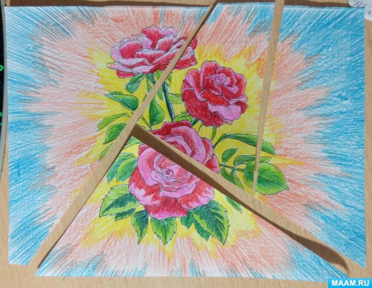 рисование платка для мамы 3 класс