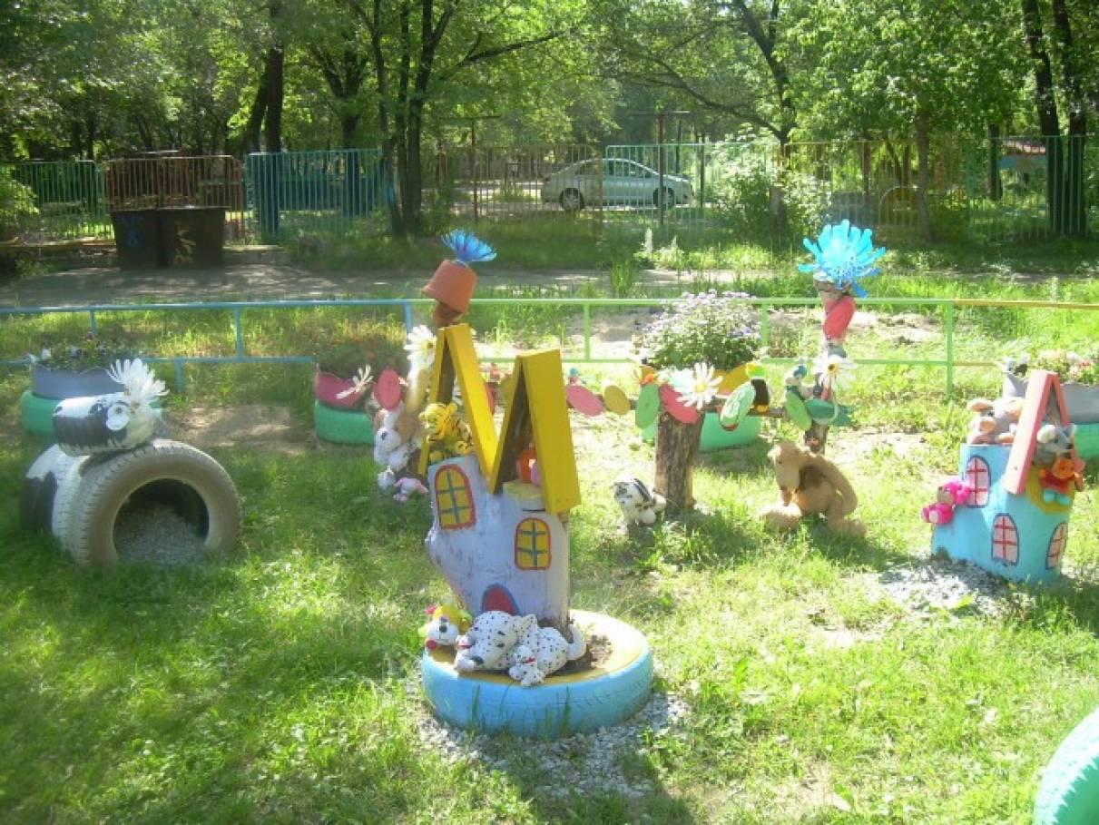 Участки в детском саду картинки