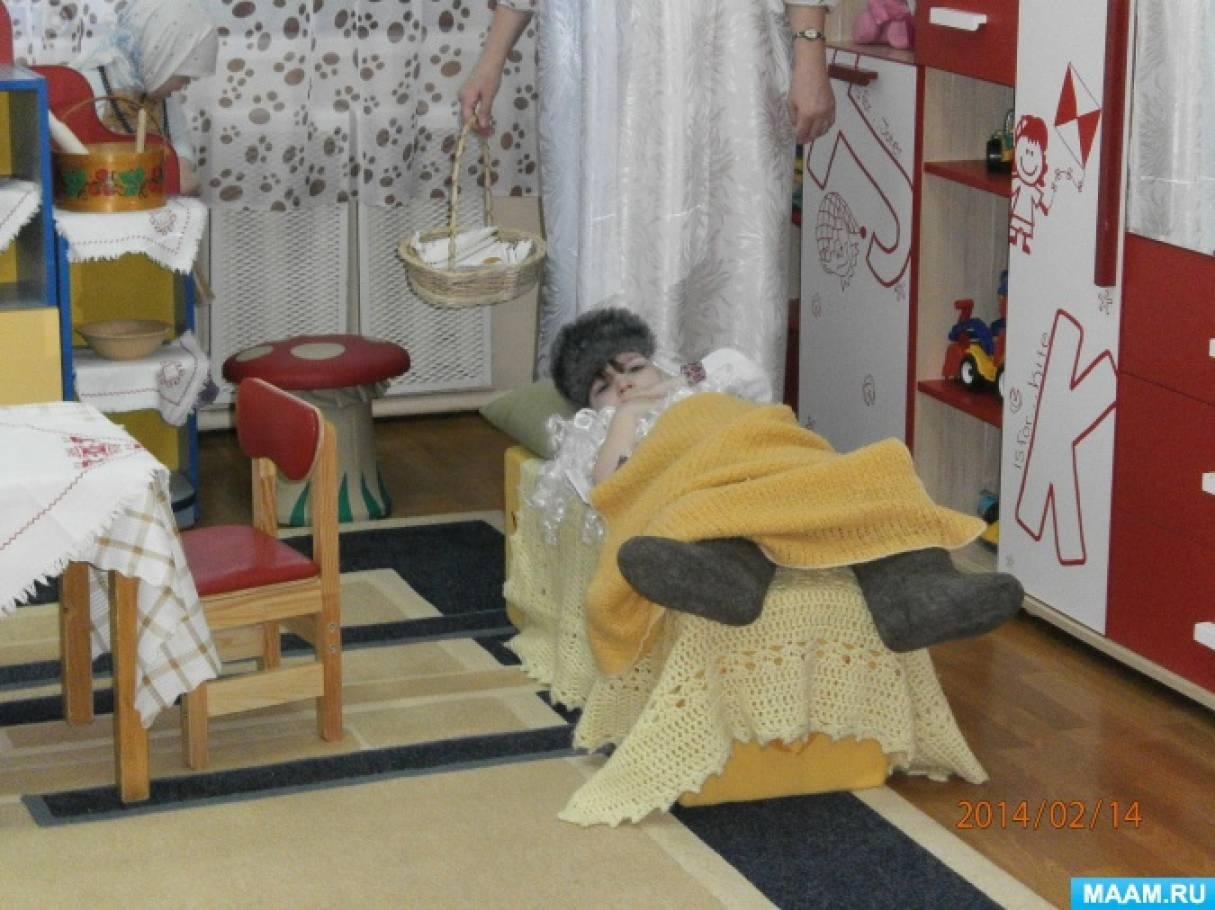 Фотоотчёт об инсценировке сказки «Курочка Ряба»