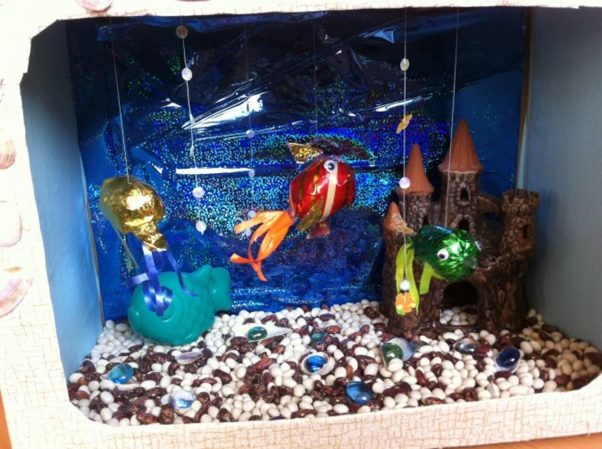 Как сделать аквариум с рыбами 125