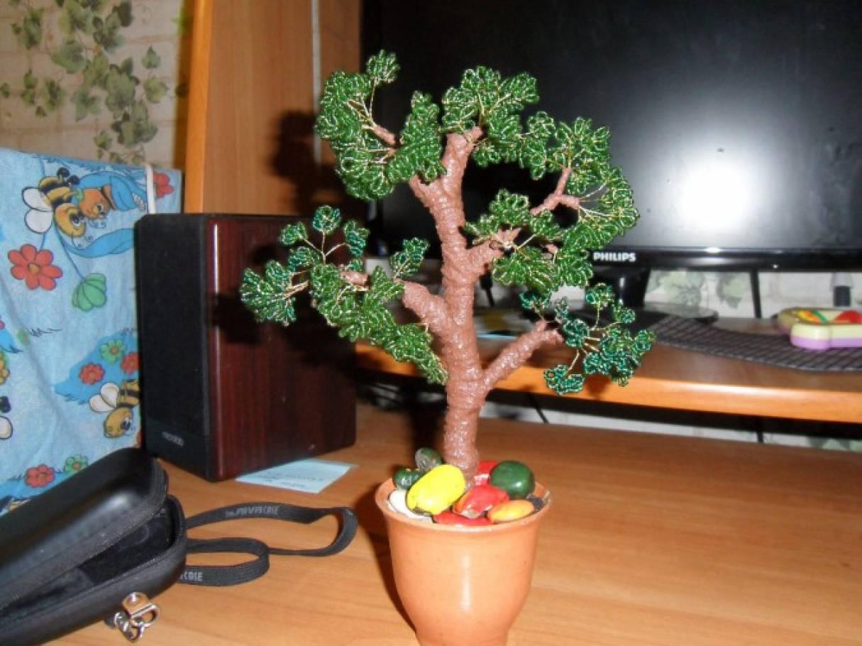 Мастер класс: Китайское дерево из бисера «Бонсай»