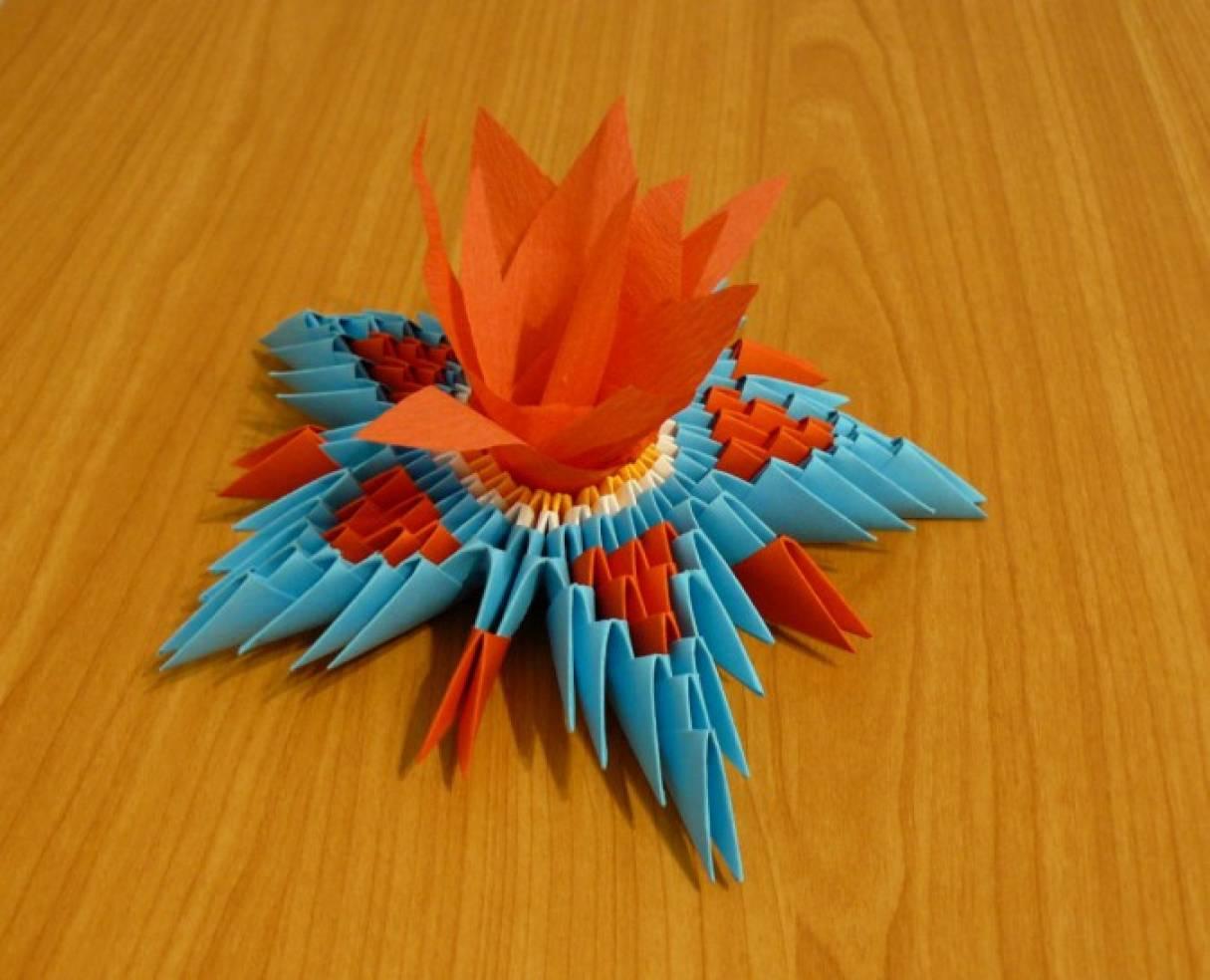 Мастер-класс «Вечный огонь». Техника модульное оригами.