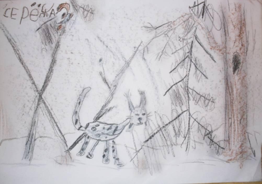 Рисуем зверей восковым мелом или по
