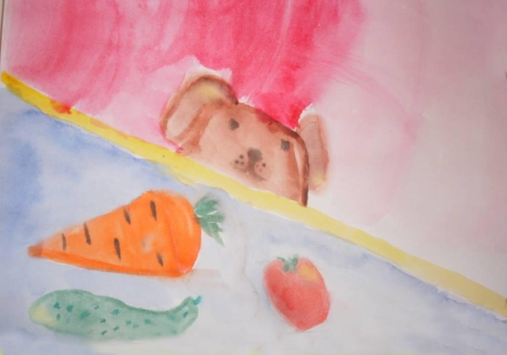 Рисунки овощного натюрморта