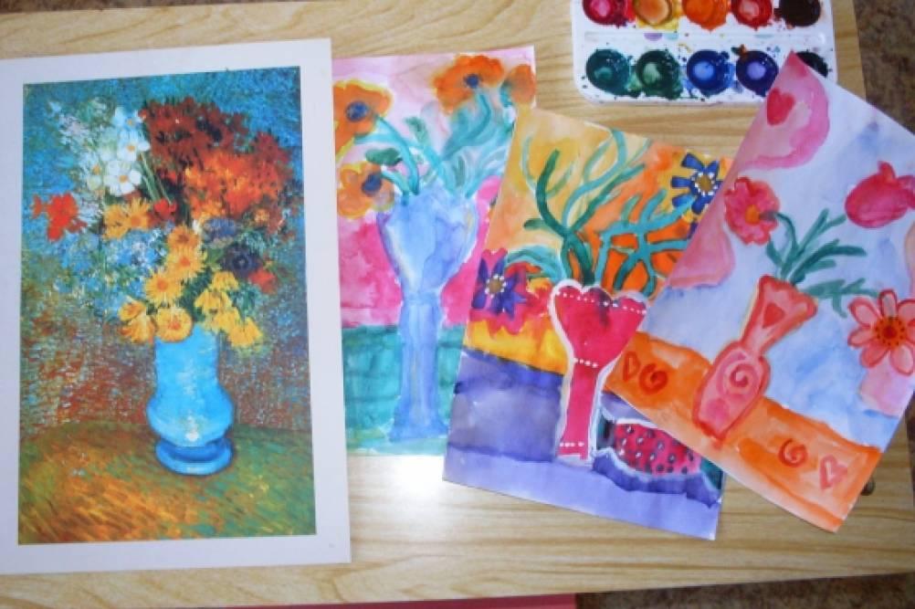 Рисуем цветы для мамы (с использованием электронной ...