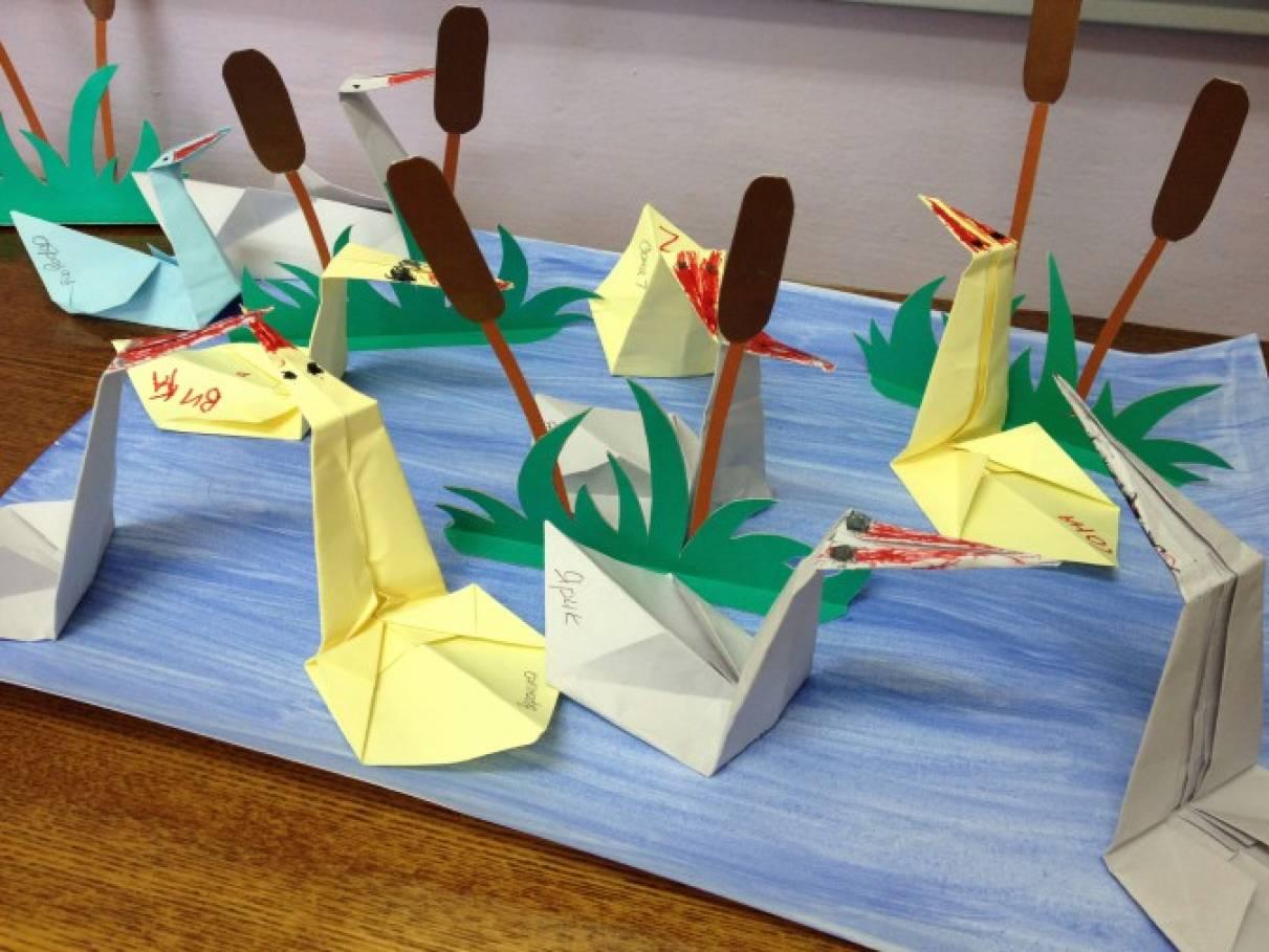 Мастер-класс по оригами «Лебединое озеро»