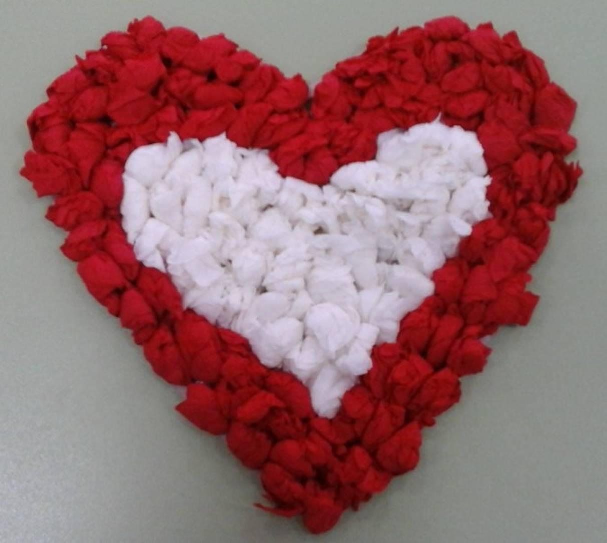 Бумажное сердце из салфеток своими руками
