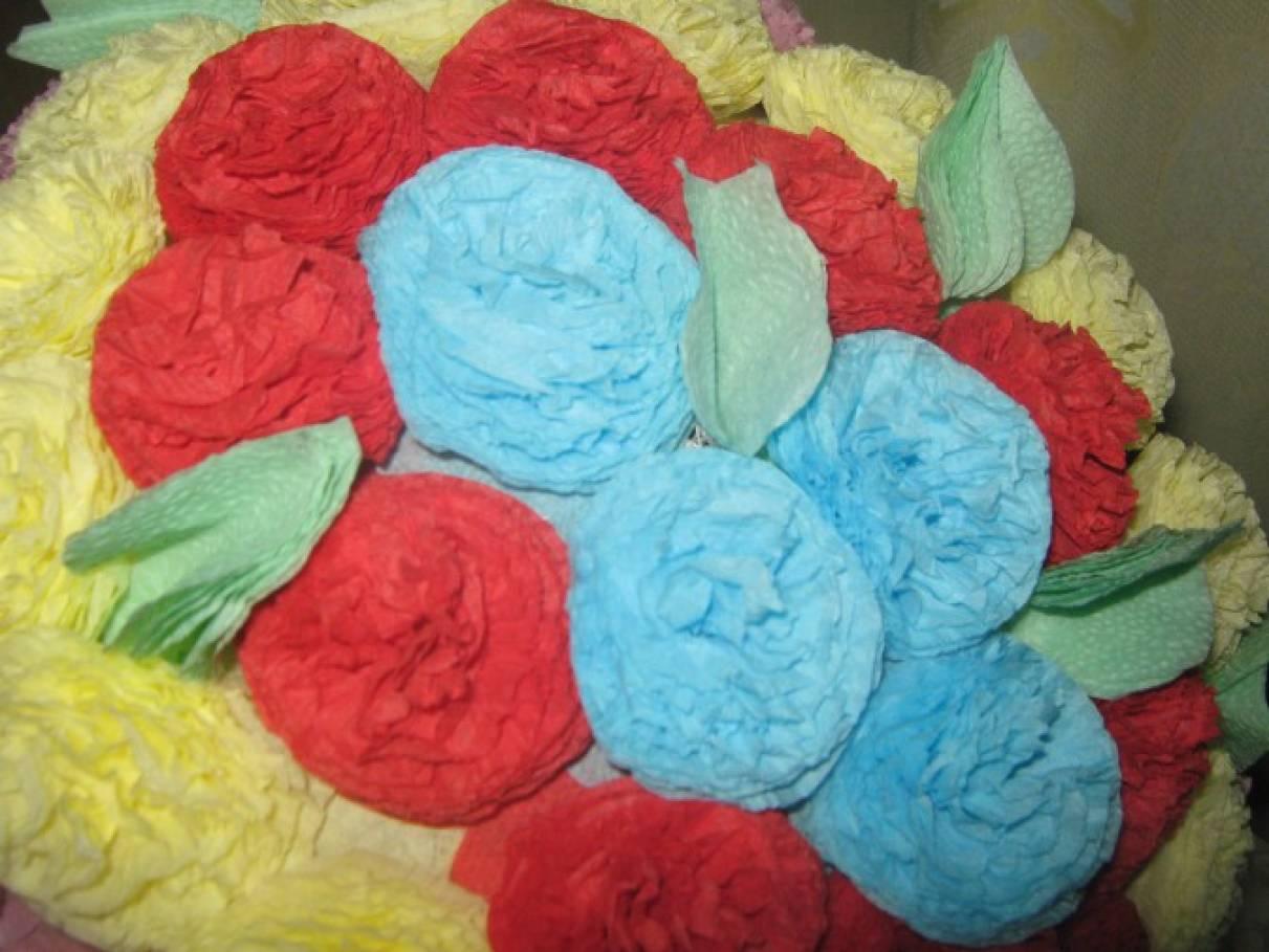 Квіти з салфеток своими руками 84