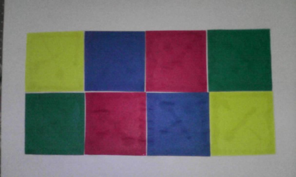 Конспект занятия по аппликации в средней группе «Цветные кубики»