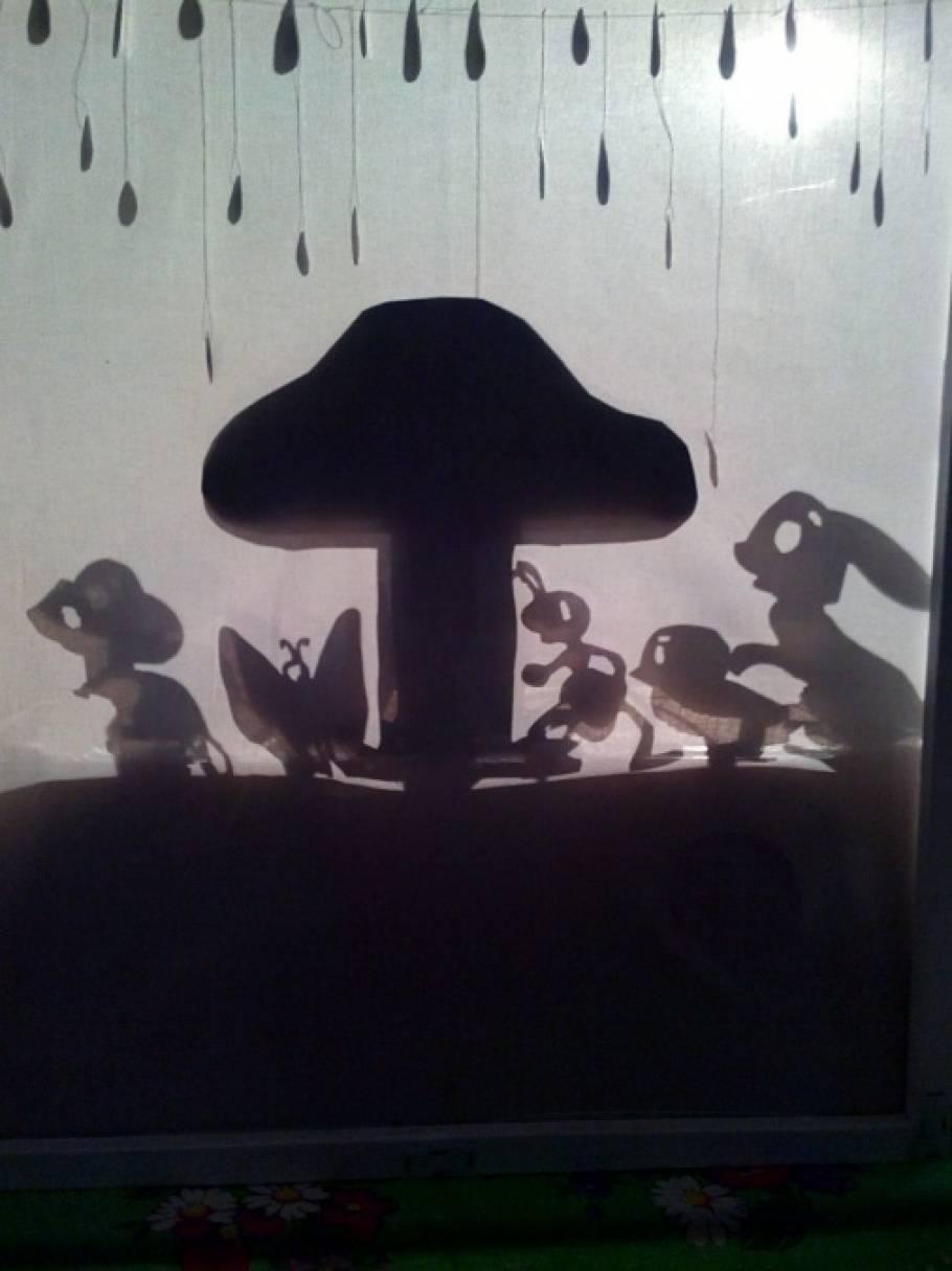 Спектакль театра теней «Под грибом»