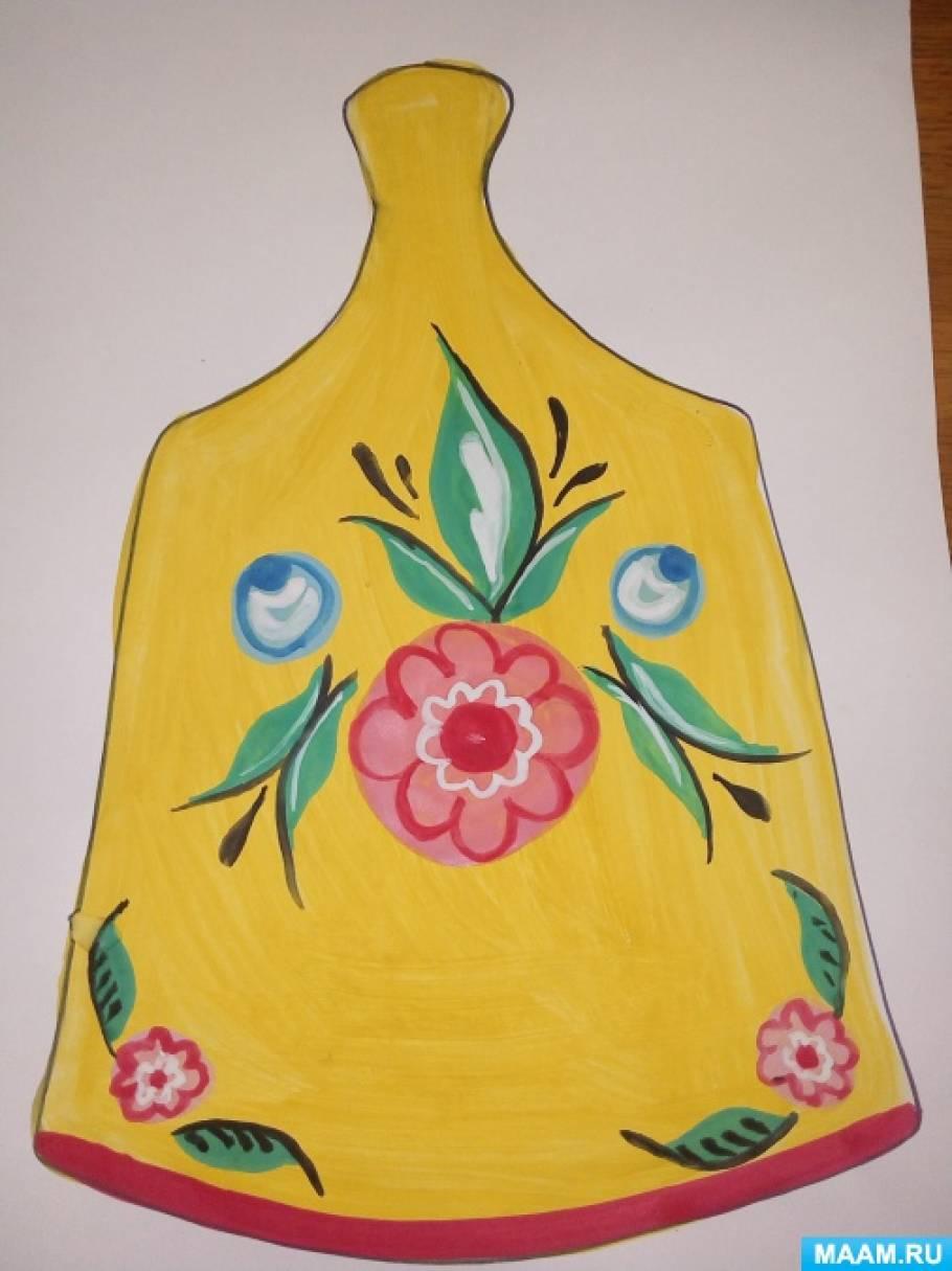 Конспект занятия по изобразительной деятельности для детей 5–6 лет «По мотивам городецкой росписи»