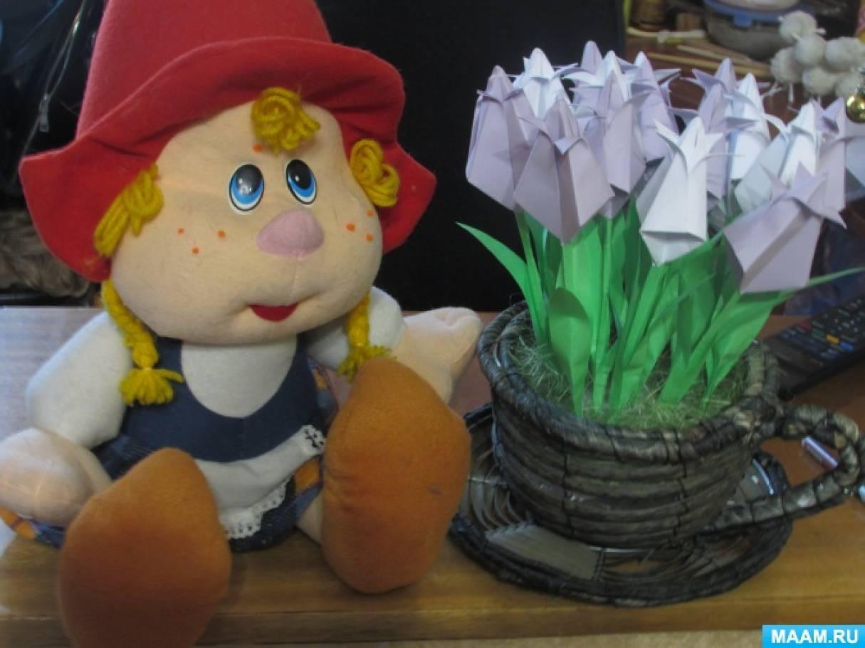 Мастер-класс для педагогов и родителей «Тюльпаны для Красной шапочки»