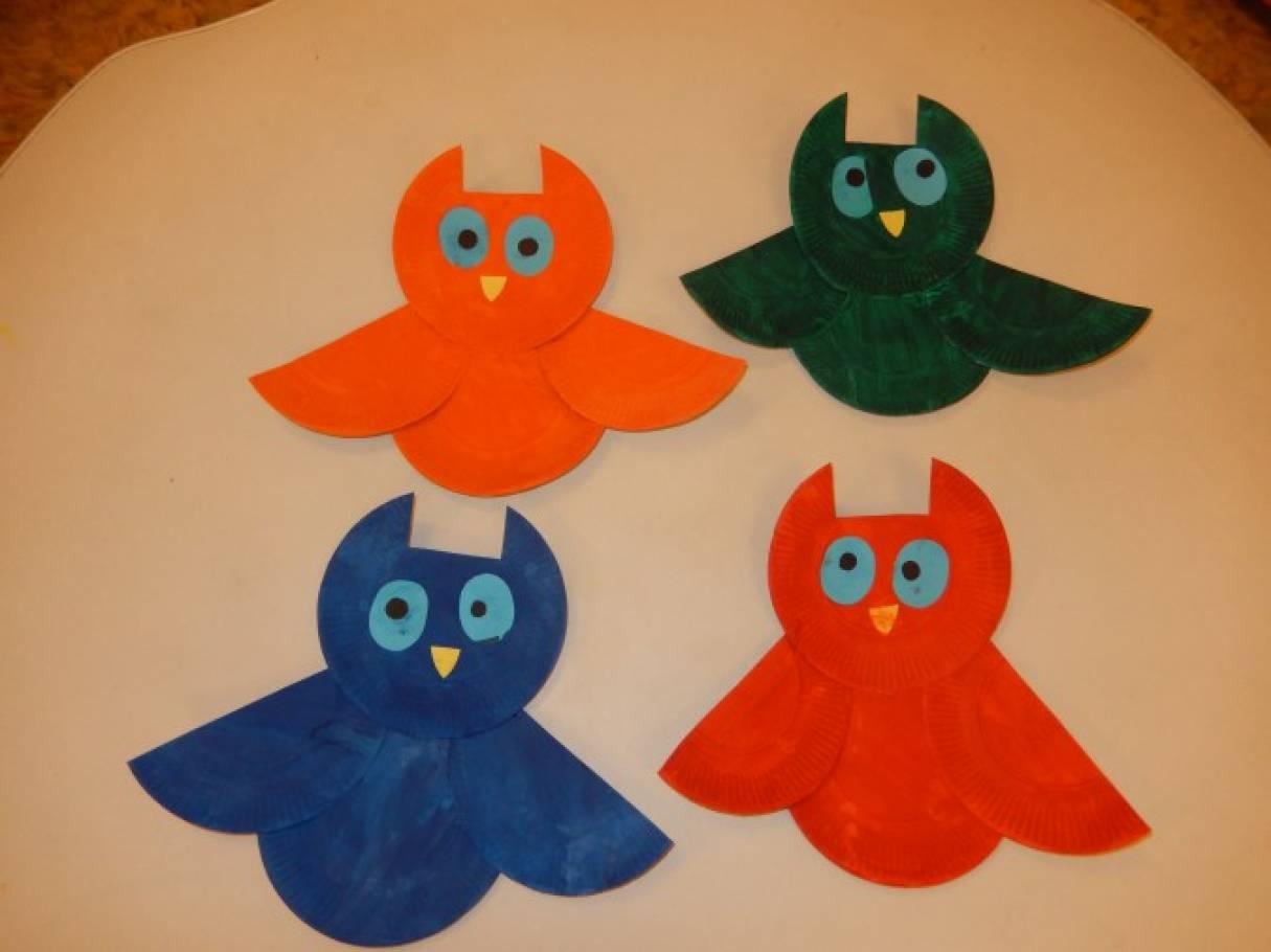 Мастер-класс поделки из одноразовых тарелочек «Совушка-сова»