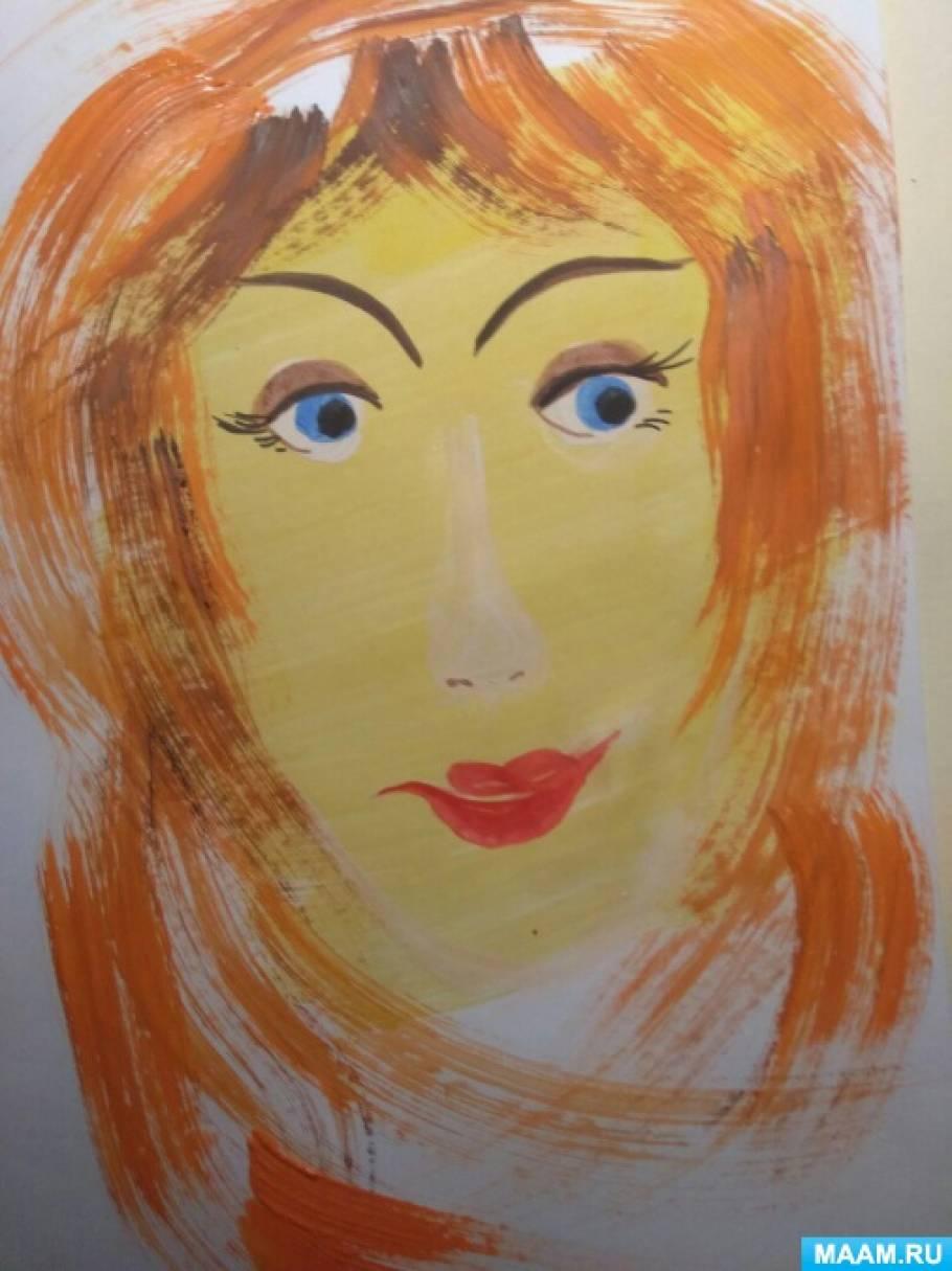 Мастер-класс по живописи «Портрет любимой мамочки»
