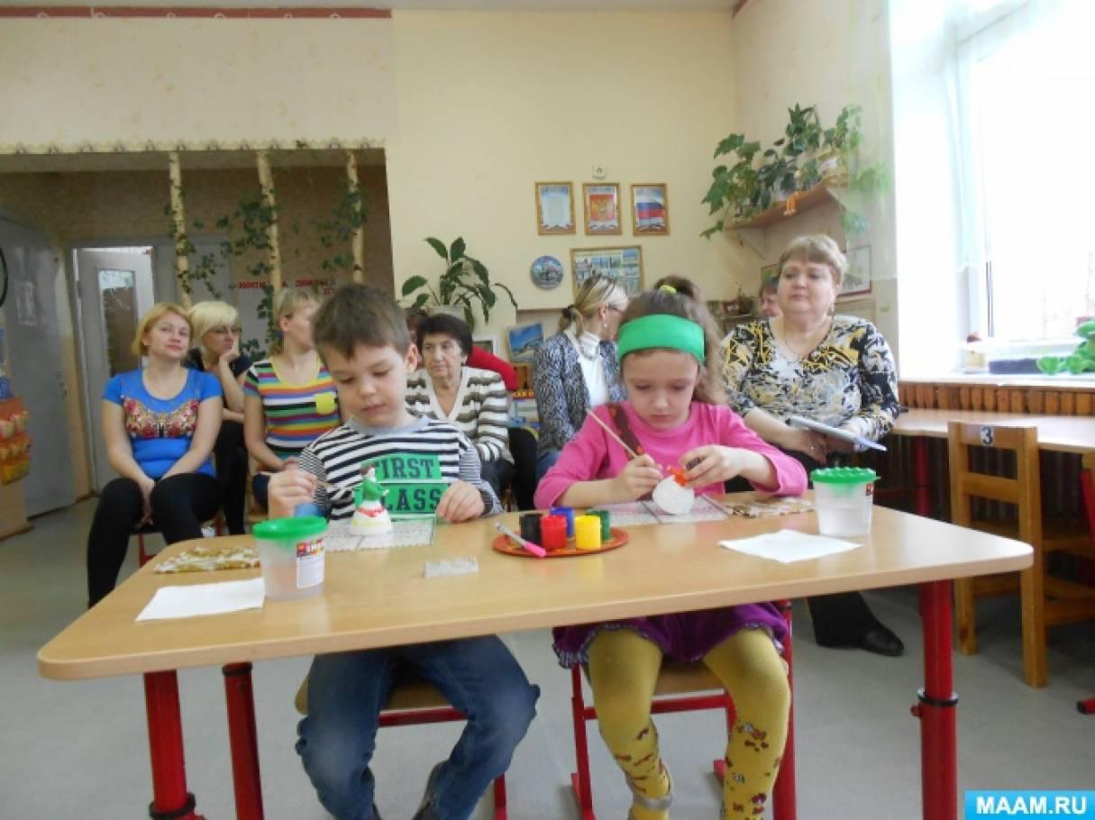 Рисование с детьми дымковскую роспись
