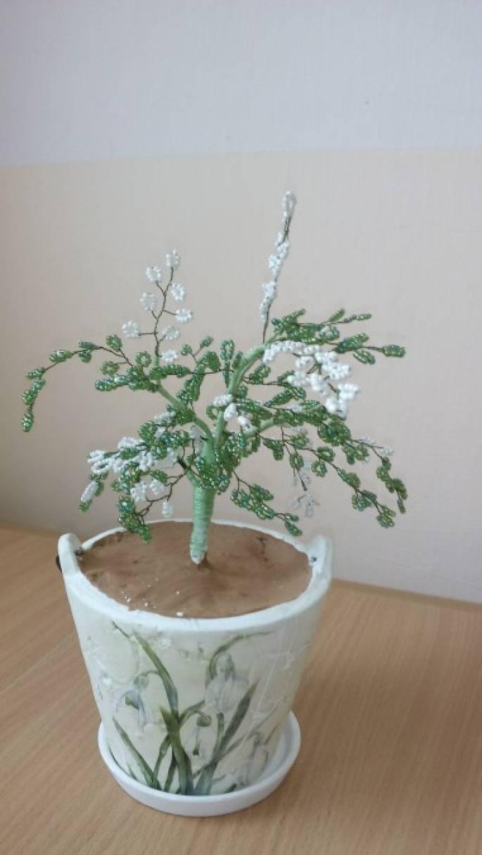 «Весеннее дерево из бисера». Мастер-класс