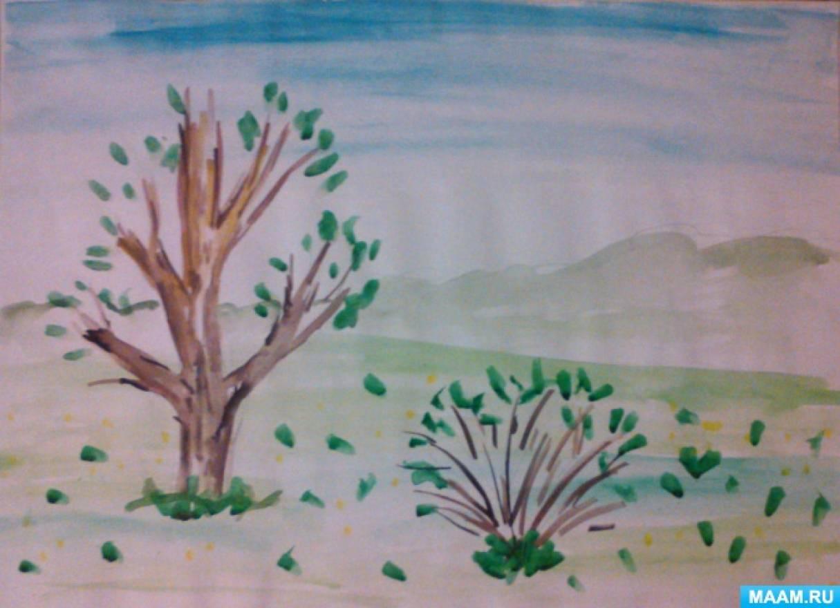 рисование на тему весна в младшей группе картинки что разменявшая