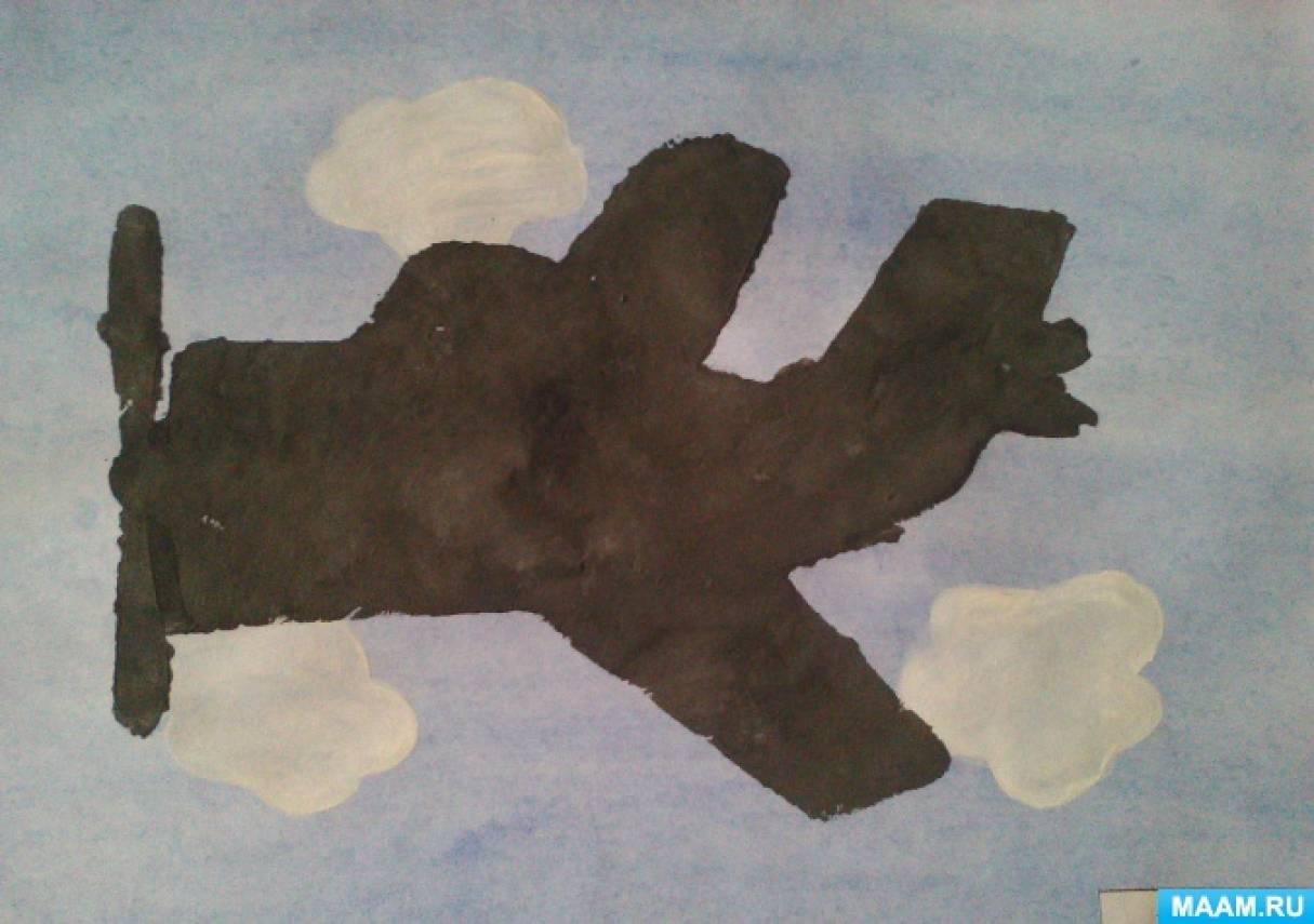 Конспект непосредственно образовательной деятельности в первой младшей группе по рисованию «Самолеты летят»