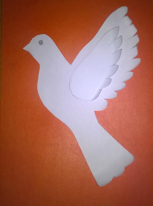 Поделки из бумаги голубь в детском саду