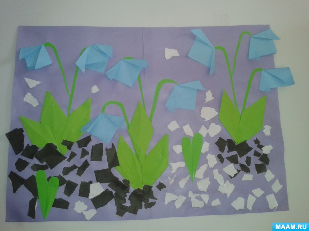 Конспект НОД. Кружковая работа по оригами «Подснежники» (средняя группа)