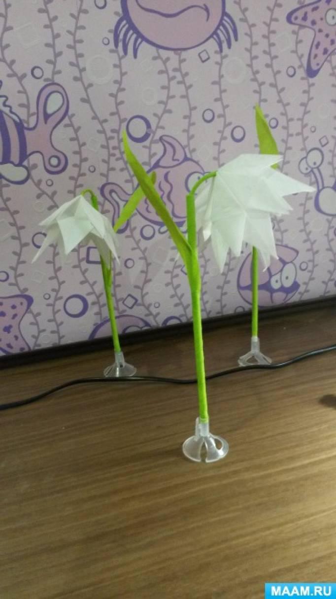 Мастер-класс для родителей и воспитателей по изготовлению цветов из подручных материалов «Первые цветы — подснежники»