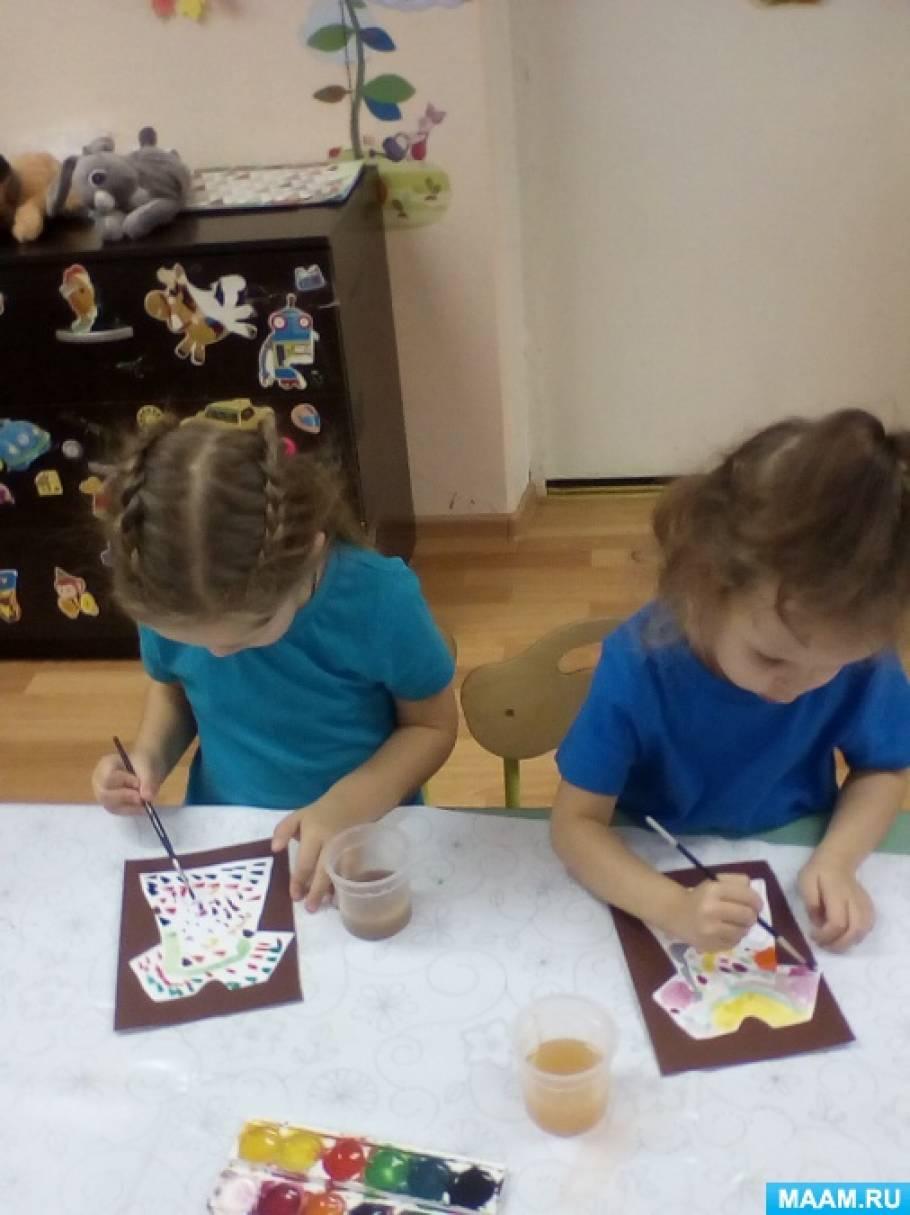 Конспект занятия по художественно-эстетическому развитию для детей второй младшей группы «Узоры на платье»