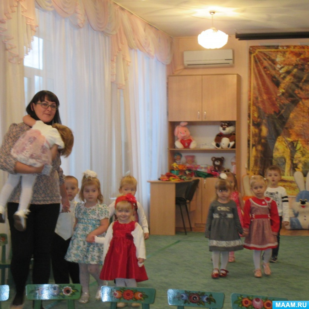 Фотоотчет об осеннем празднике во второй группе раннего возраста