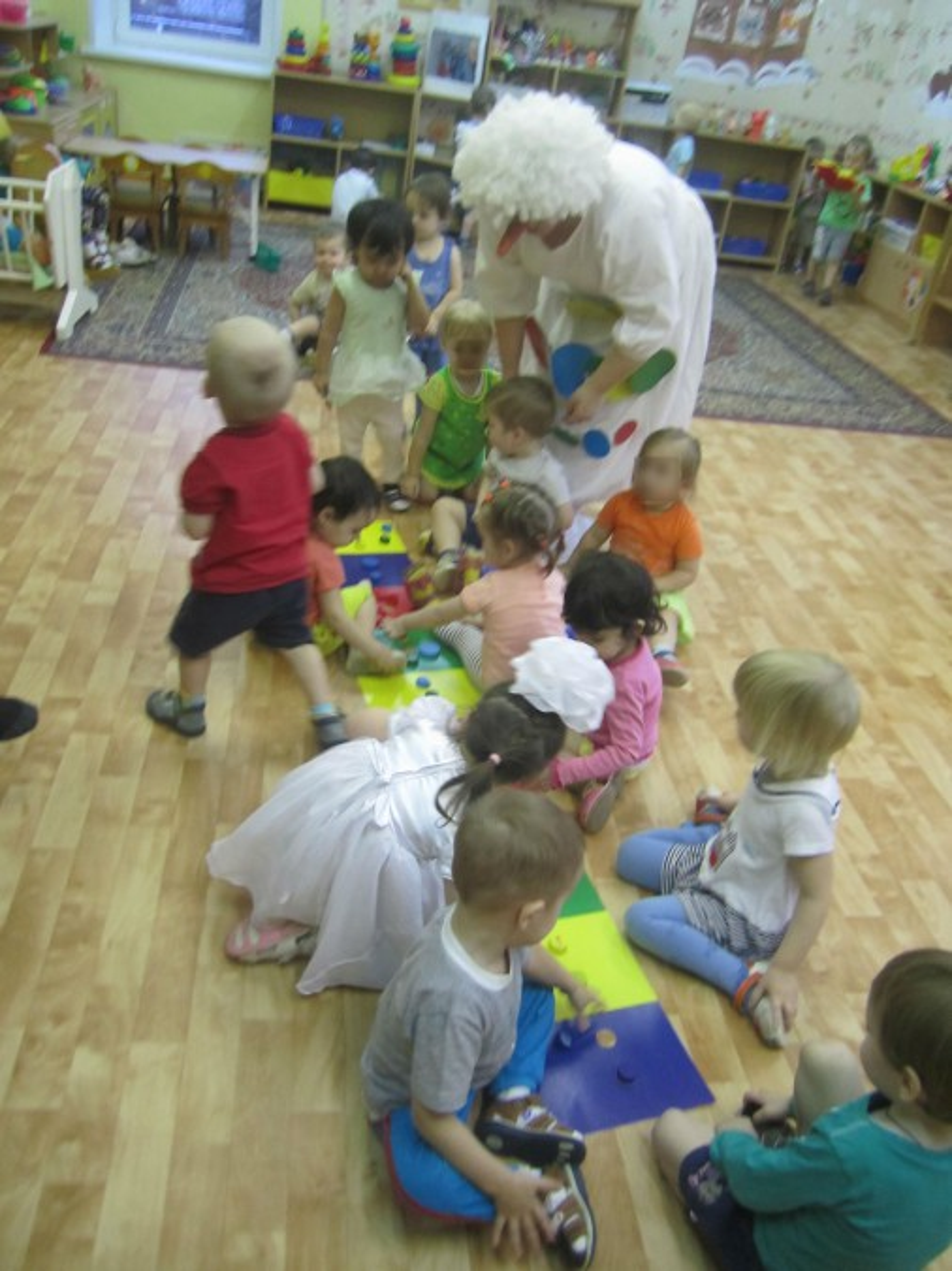 Занятие в первой младшей группе по развитию логического мышления через логико-математические игры «Снеговик в гостях у ребят»