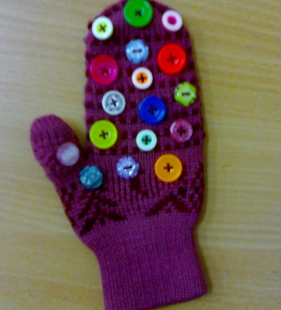 Массажная варежка для детского сада своими руками 6