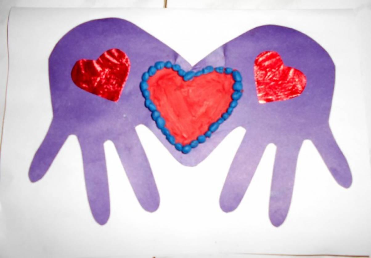Открытки для мамы ладошки с сердечками, годиком стихах