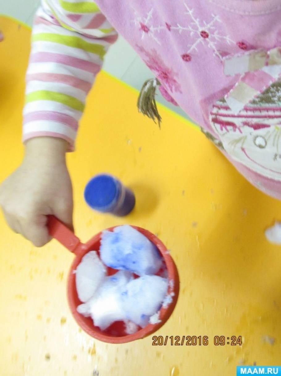знакомство со снегом в младшей группе