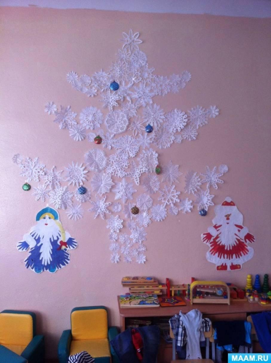 Оформление группы к Новому году «Мастерская Деда мороза»