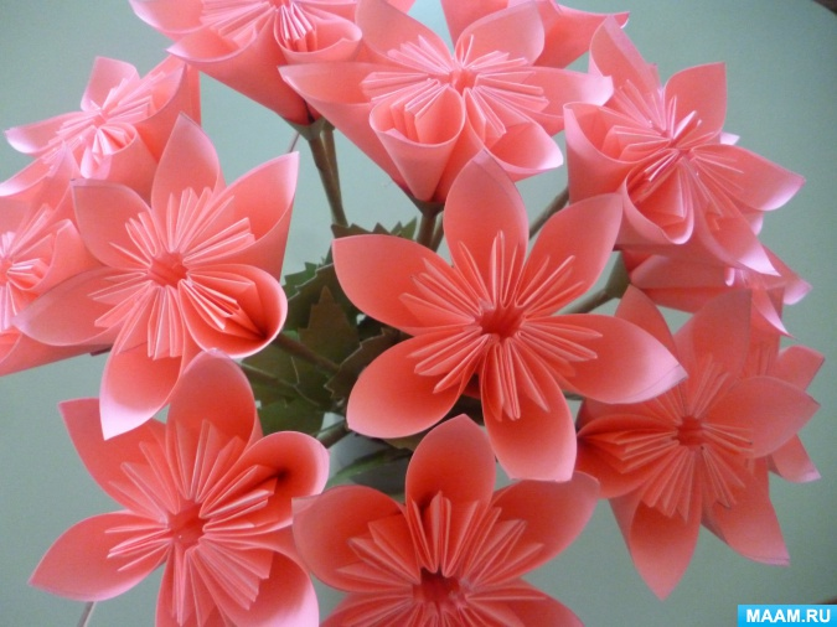 Мастер-класс «Цветы для мамы в технике кусудама»