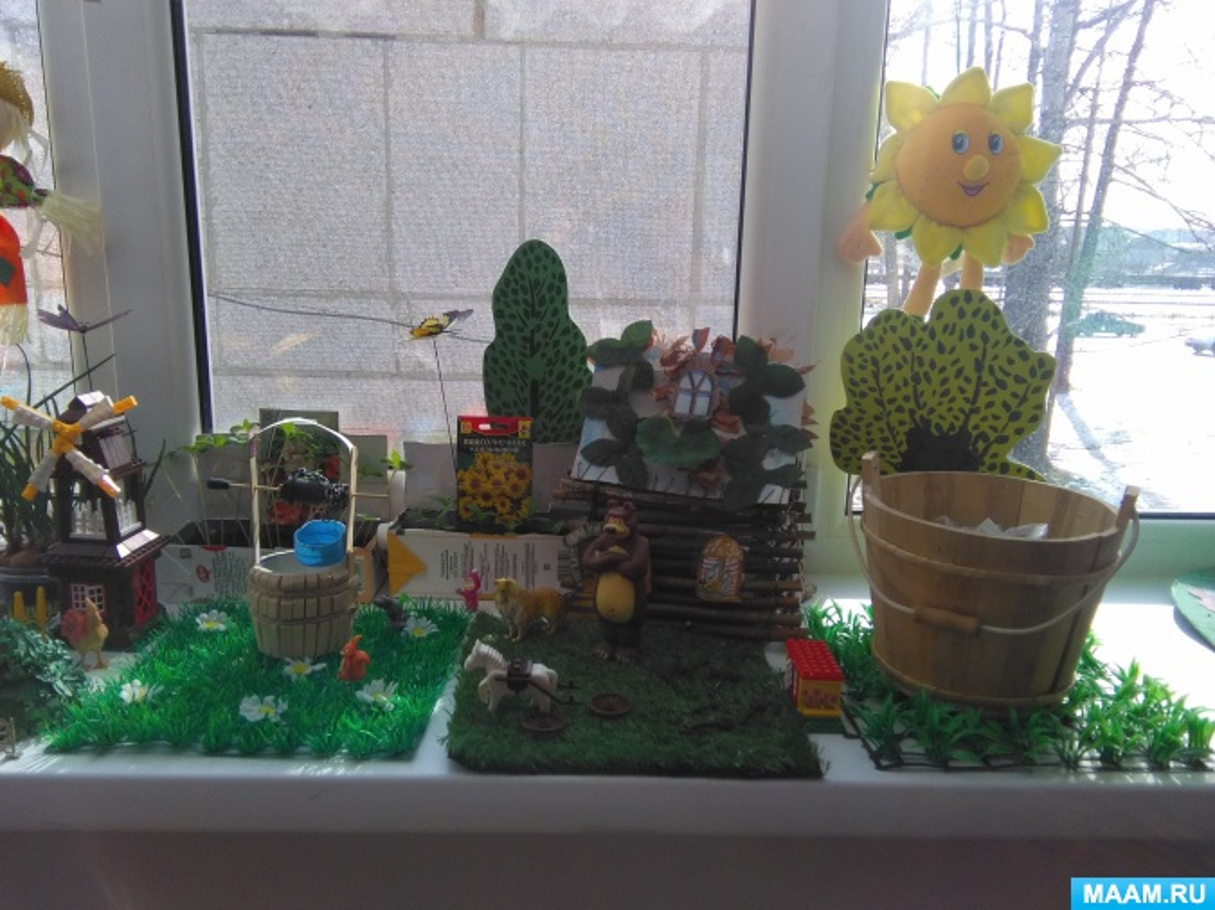 Огород на окне в детском саду