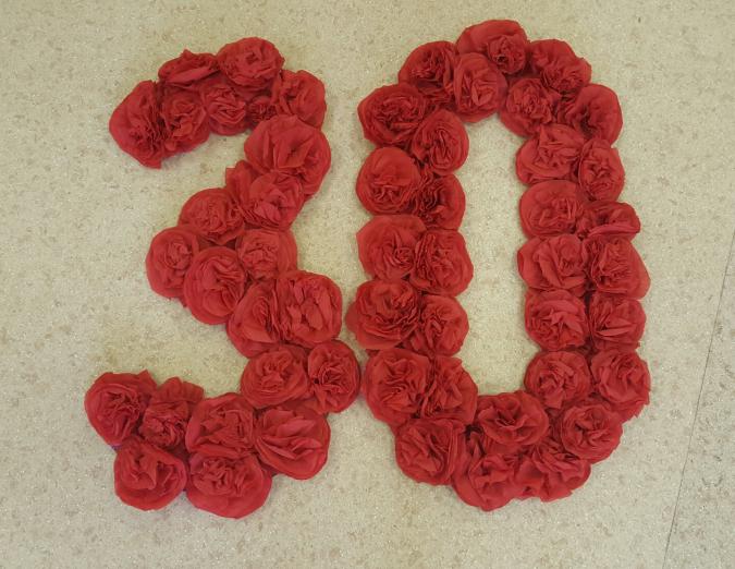 Как из салфеток сделать розу для цифры 470