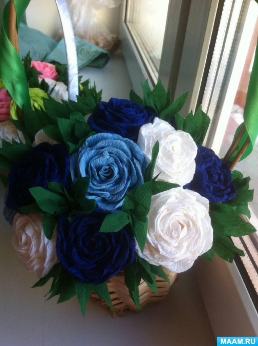 Видео мастер-класс «Розы из гофрированной бумаги»