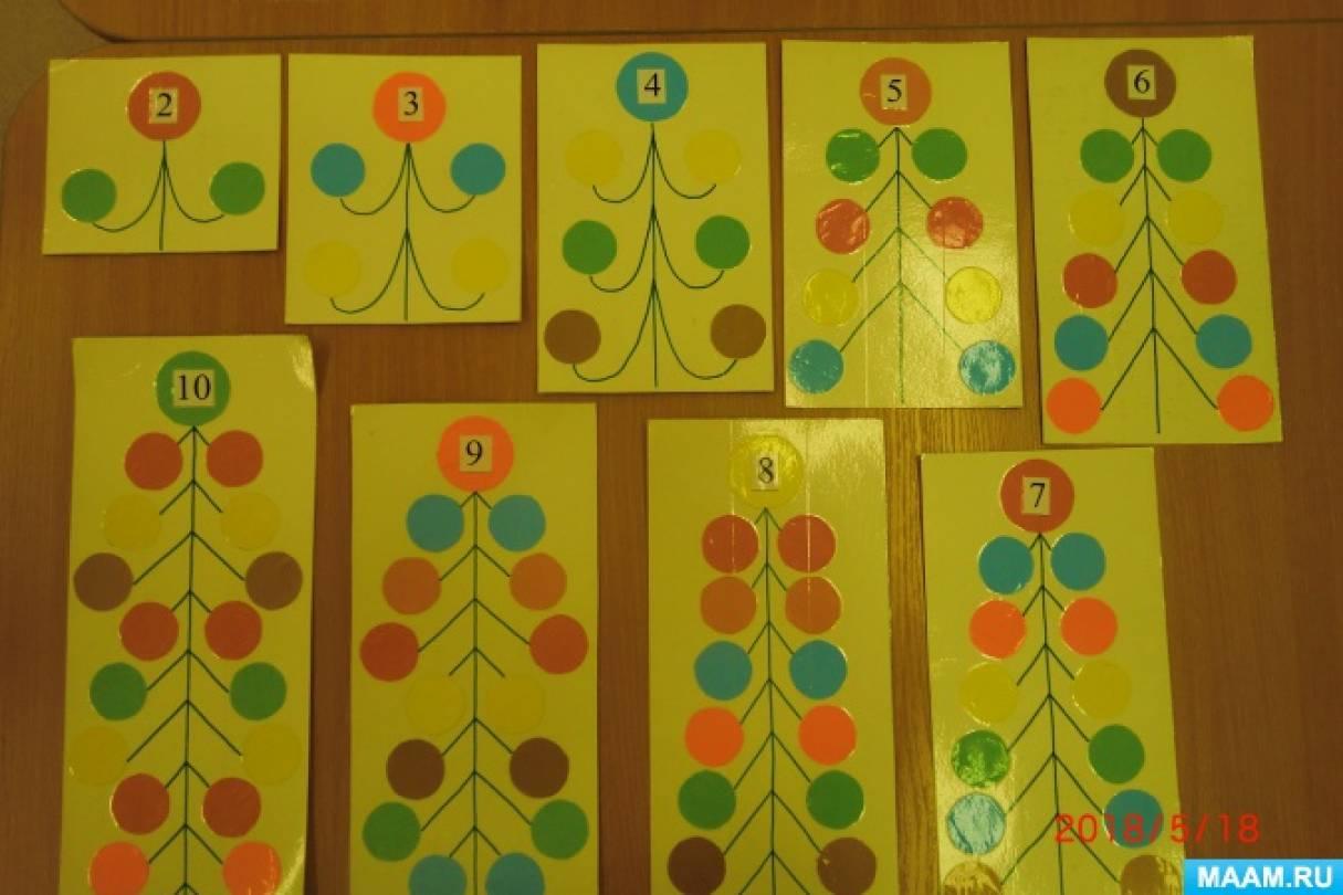 Дидактическая игра по математике «Укрась ёлочку»