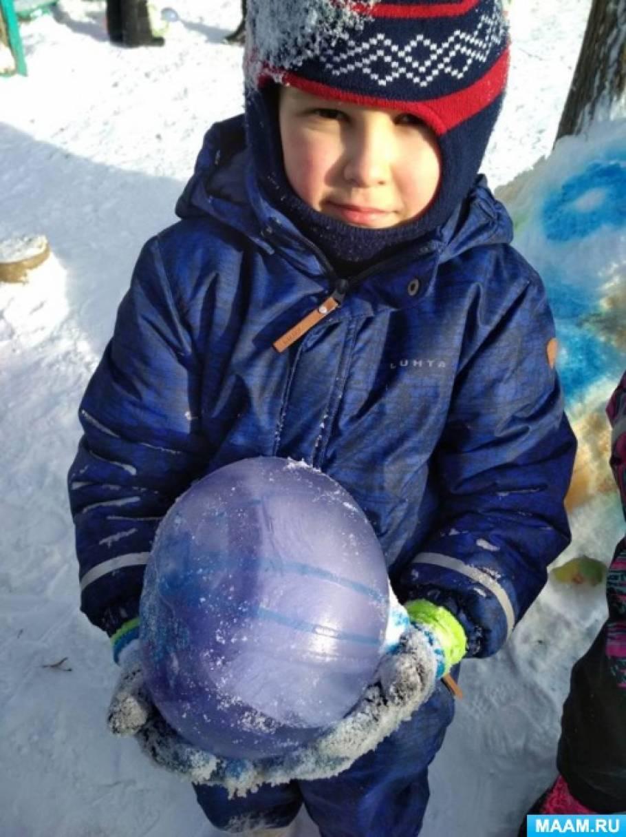 Зимнее оформление участка детского сада своими руками