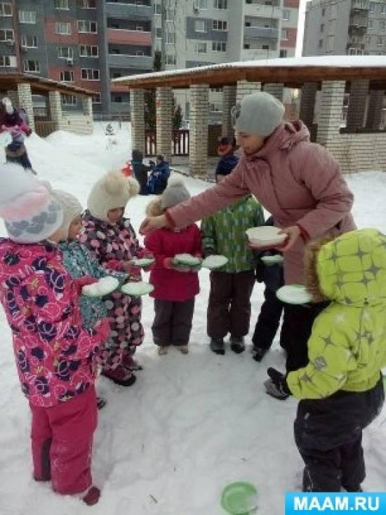 Конспект познавательно-экспериментальной деятельности со снегом и льдом в старшей группе «Эксперименты на прогулке зимой»