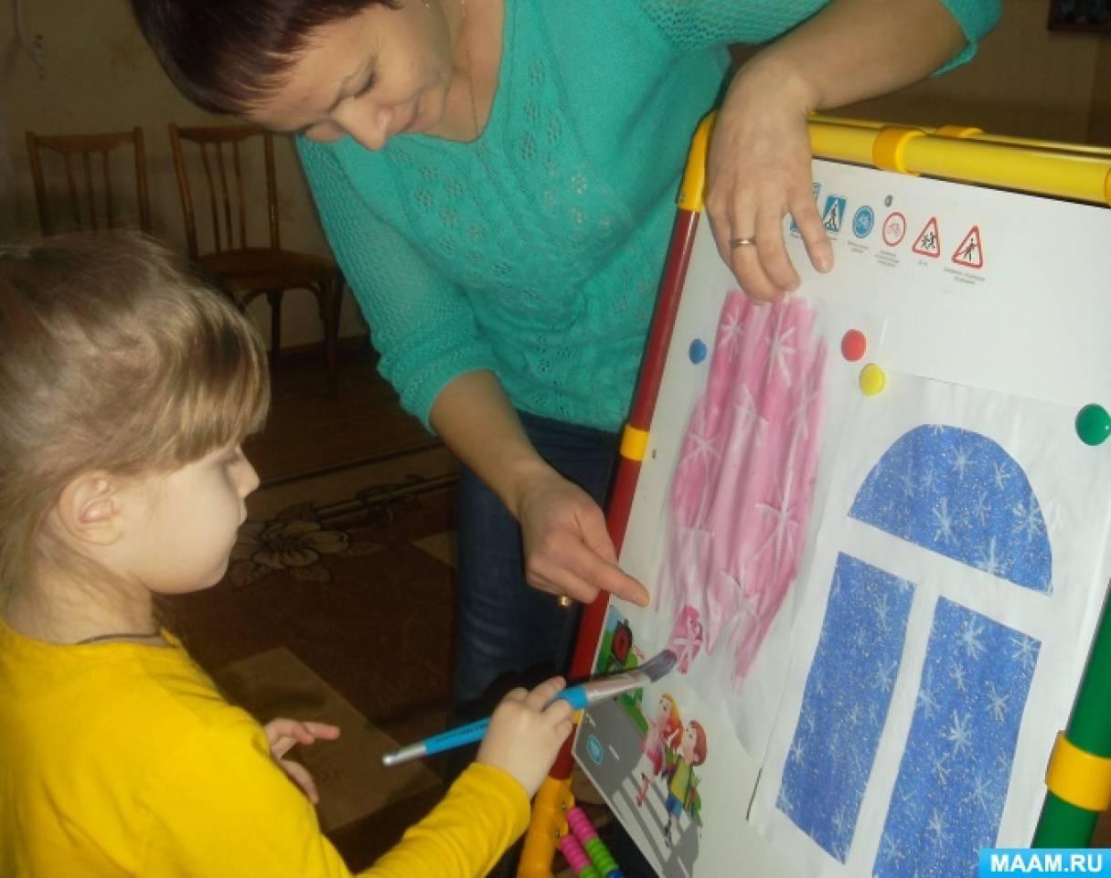 Творческая мастерская по ИЗО деятельности с участием родителей. Тема «Необыкновенные снежинки за окном»