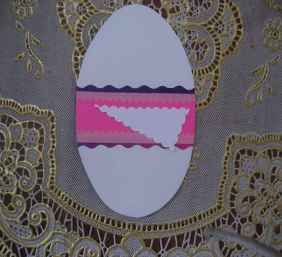 Мастер-класс по изготовлению открытки-раскладушки в технике «Аппликация» «Пасхальное яйцо»