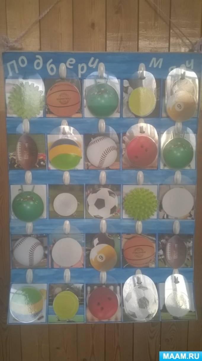 Спортивно-дидактическая игра «Подбери мяч»