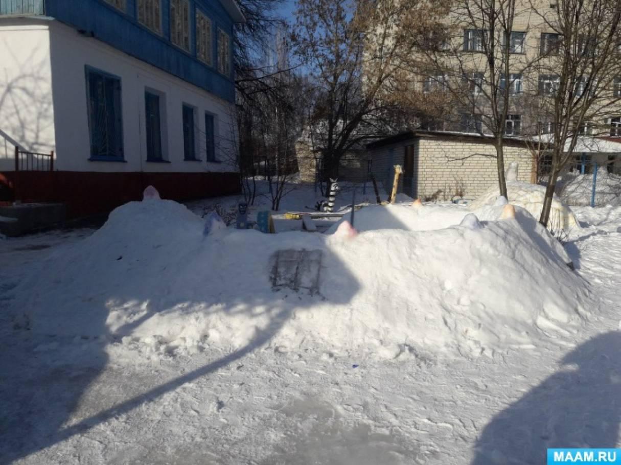 Оформление участка в ДОУ в зимний период