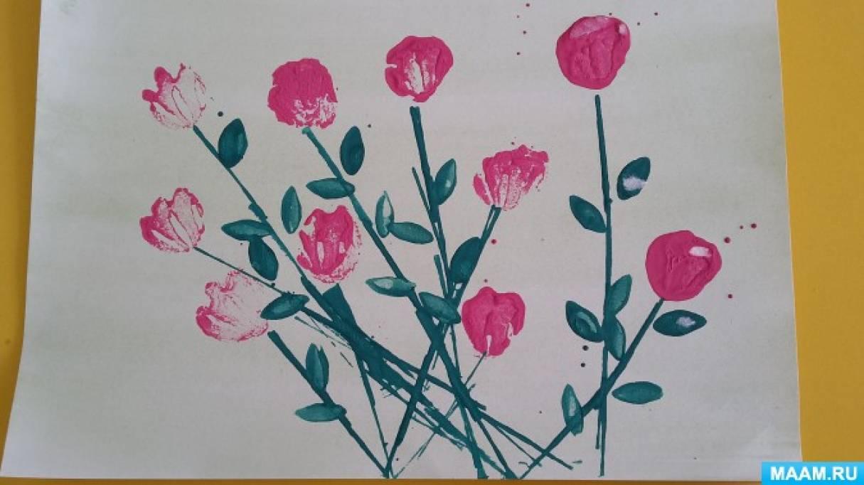 Рисование цветы старшая группа