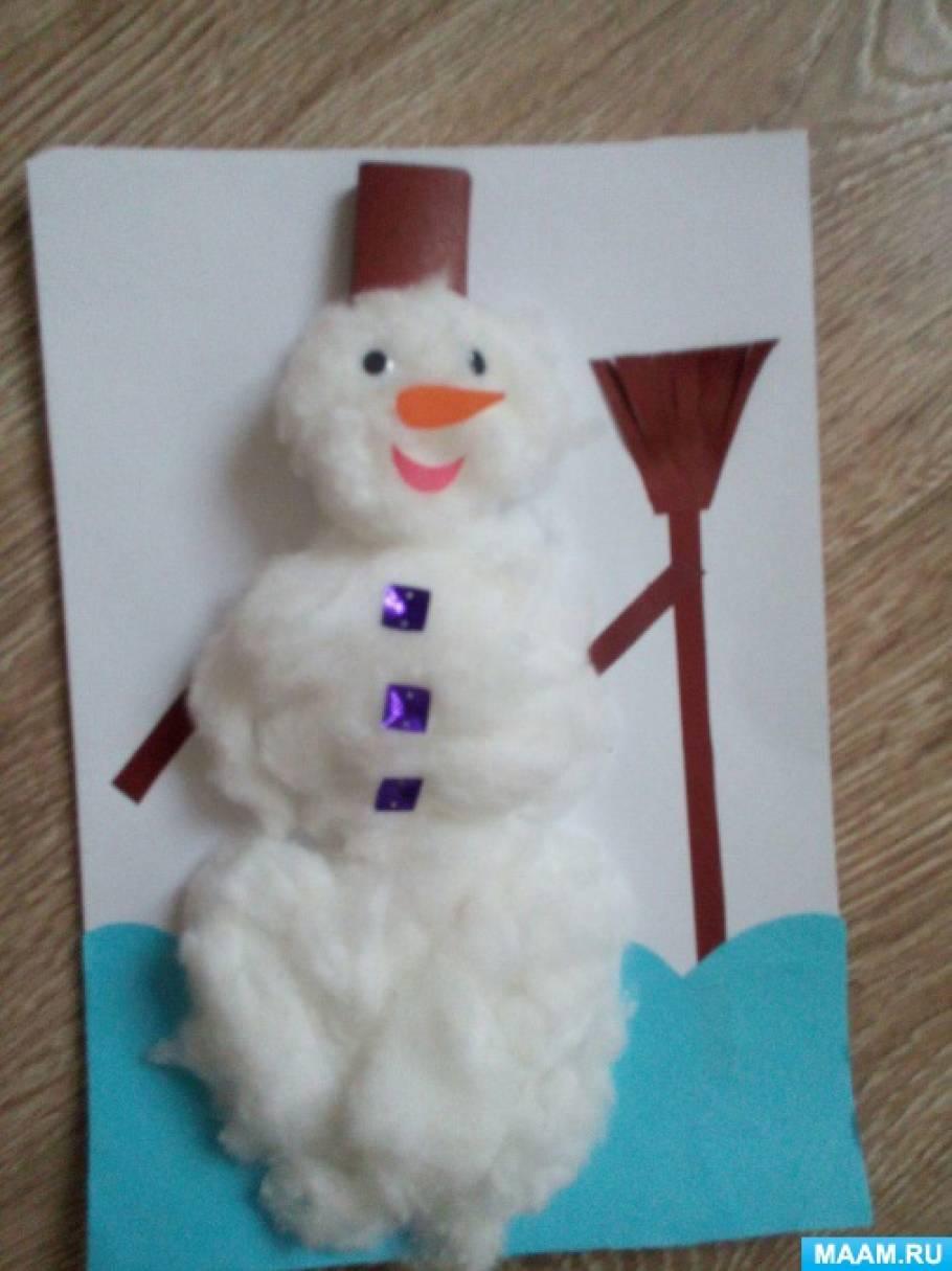 Мастер-класс для детей «Снеговик из ваты»
