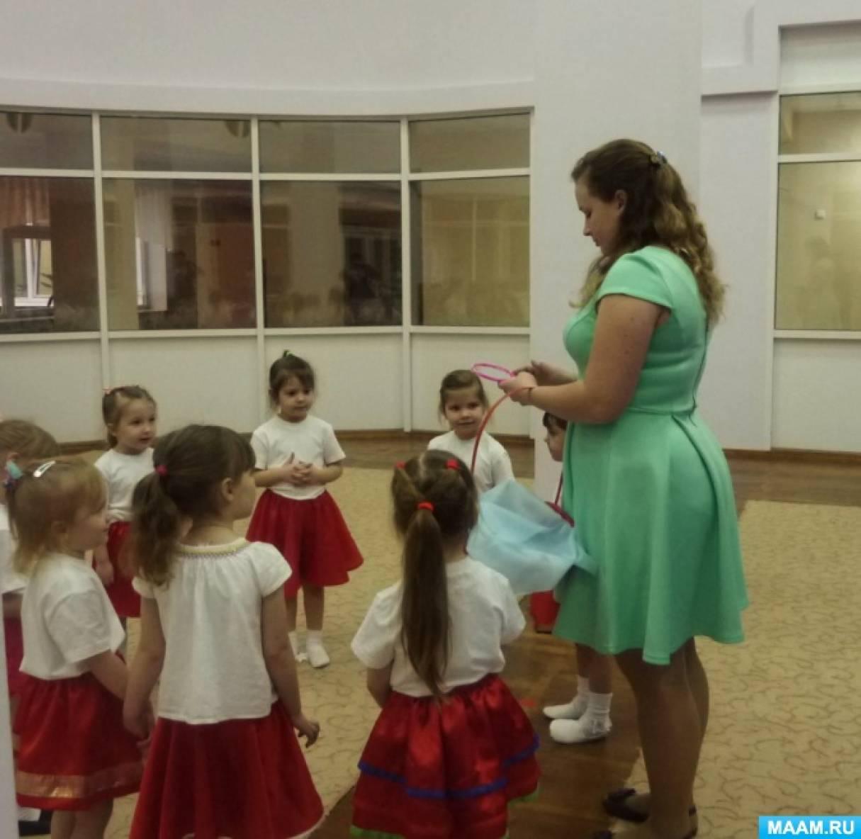 Сценарий театрализованной деятельности с детьми второй младшей группы «Украинская народная сказка «Рукавичка» на новый лад»