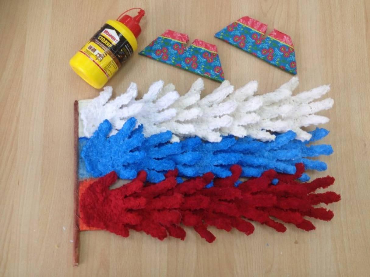Детские поделки российского флага 57