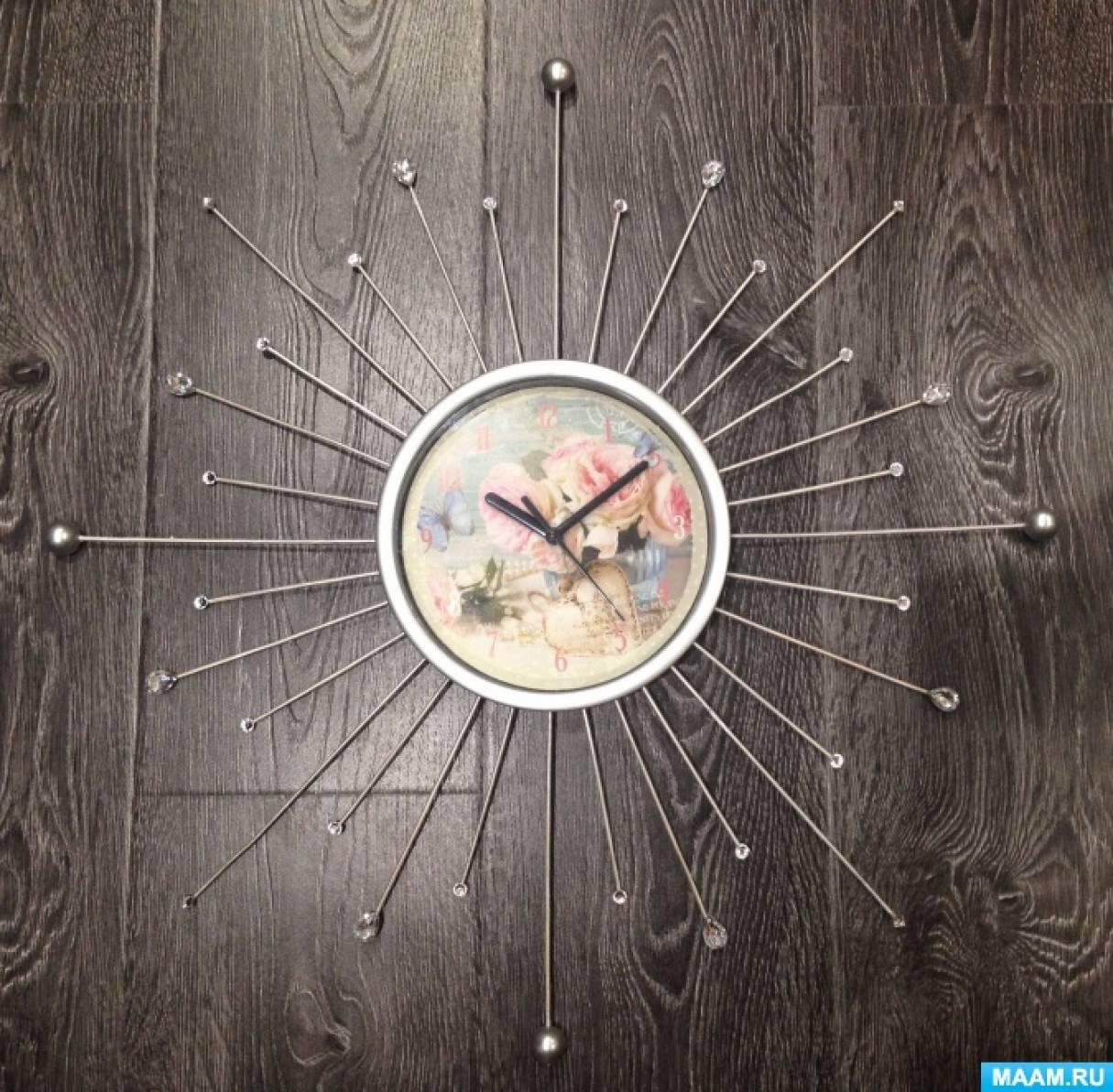 Мастер-класс «Декорирование часов»
