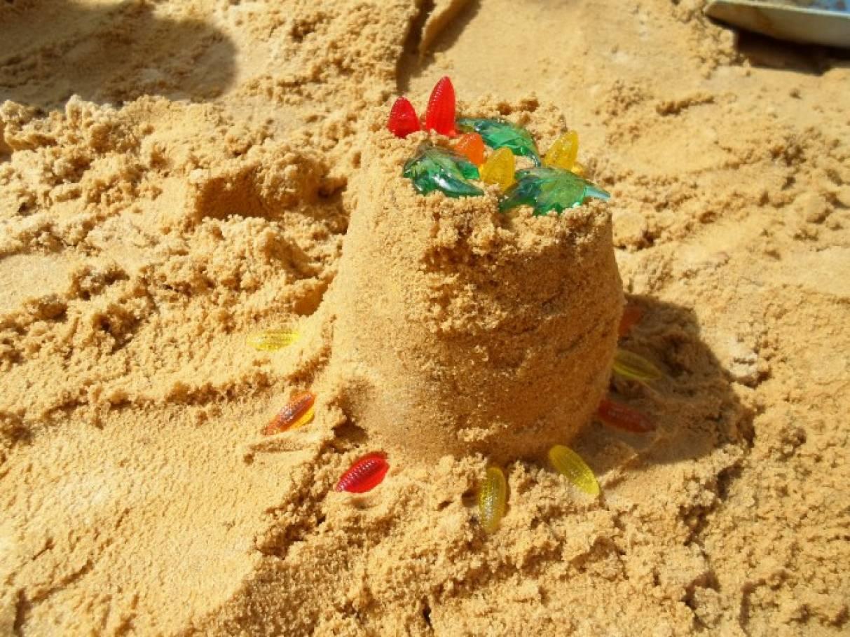 полностью торты из песка картинки честь